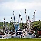 *Beaufort Shrimp Boats* by DeeZ (D L Honeycutt)