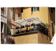 Balcony Garden-Spoleto, Italy Poster
