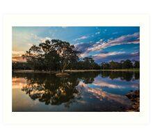 Sunset at the Lake Art Print