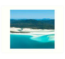 Whitehaven Beach Calendar 1 July Art Print