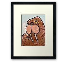 Sophisticated Walrus Framed Print