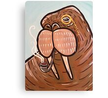 Sophisticated Walrus Canvas Print