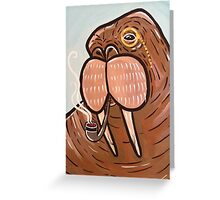 Sophisticated Walrus Greeting Card