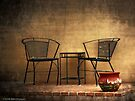 Table and Chairs in Black by Lucinda Walter