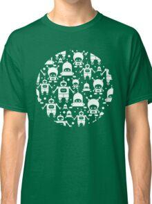 Colorful fun robots pattern Classic T-Shirt