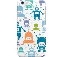 Colorful fun robots pattern iPhone Case/Skin