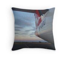 Qantaslink Bombardier Q400 - Stormy from rear Throw Pillow