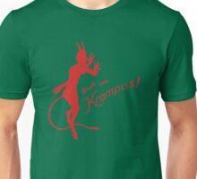 Krampus 24 Red on Green Unisex T-Shirt