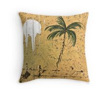 PALM RAIN FULL MOON Throw Pillow