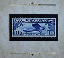 The Ten Cent LIndbergh Commemorative Air Mail Stamp of 1927 - by Schoolhouse62