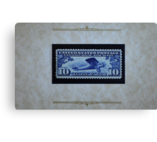 The Ten Cent LIndbergh Commemorative Air Mail Stamp of 1927 - Canvas Print