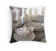 Shabby Chic Tablescape Throw Pillow