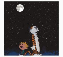 calvin and hobbes christmas of night One Piece - Short Sleeve