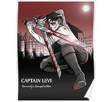Captain Levi (white font) Poster