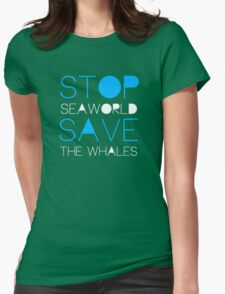 Stop Seaworld Womens Fitted T-Shirt