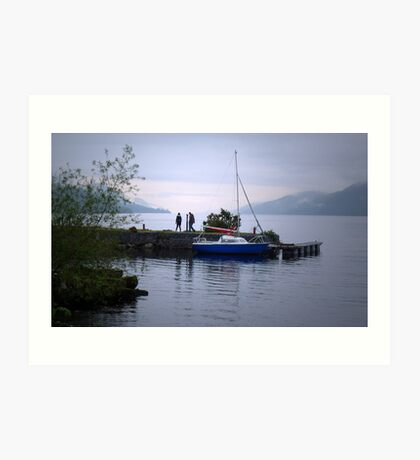 Looking for Nessie Art Print
