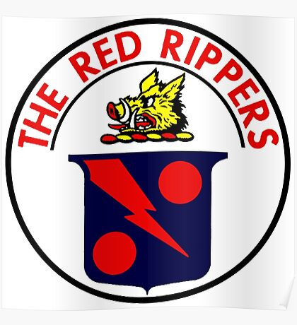 VFA-11 Red Rippers Patch Poster
