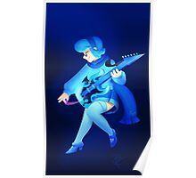 Vivi with an E-Guitar Poster