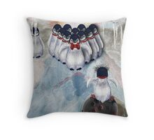 Ice Bowl Throw Pillow