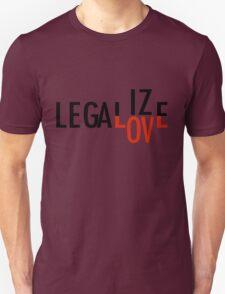 LEGALIZE LOVE black/red T-Shirt