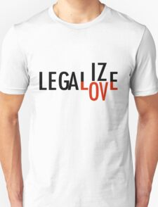 LEGALIZE LOVE black/red T-Shirt