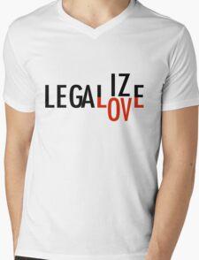 LEGALIZE LOVE black/red Mens V-Neck T-Shirt