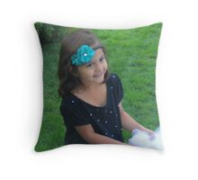 """Young Beauty"" by Carter L. Shepard Throw Pillow"