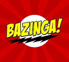 BAZINGA! - Big Bang Theory (RED) by ConceptJohnny