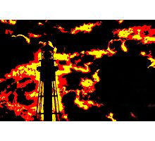 Fiery Lighthouse Photographic Print