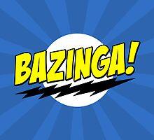 BAZINGA! - Big Bang Theory (BLUE) by ConceptJohnny