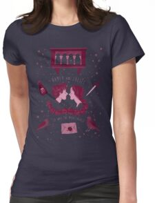 Shakesperean pattern - Romeo and Juliet Womens Fitted T-Shirt
