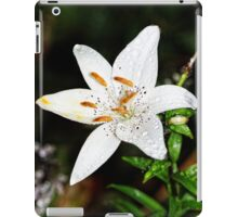 White Tiger Lily iPad Case/Skin