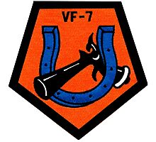 VFA-7 Horseshoes Patch Photographic Print