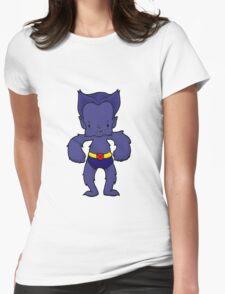 BEAST BLUE Womens Fitted T-Shirt