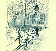 Washington Park in Winter by TroySalmonArt