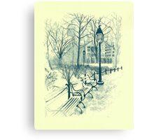 Washington Park in Winter Canvas Print