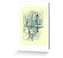 Washington Park in Winter Greeting Card