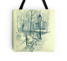 Washington Park in Winter Tote Bag