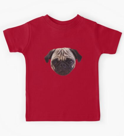 Cute Caesar the Pug Face by AiReal Apparel Kids Tee
