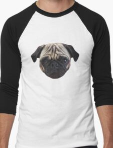 Cute Caesar the Pug Face by AiReal Apparel Men's Baseball ¾ T-Shirt