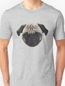 Cute Caesar the Pug Face by AiReal Apparel Unisex T-Shirt