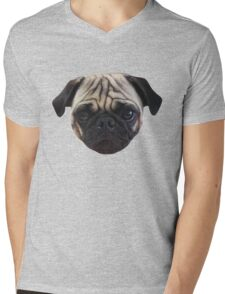 Cute Caesar the Pug Face by AiReal Apparel Mens V-Neck T-Shirt