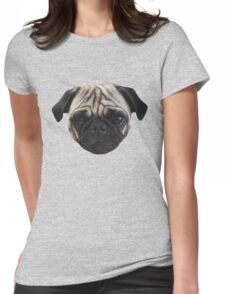 Cute Caesar the Pug Face by AiReal Apparel Womens Fitted T-Shirt