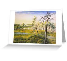 Morning swamp Greeting Card