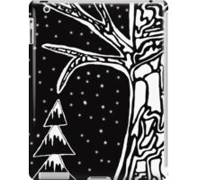 Black & White Tree Illustration iPad Case/Skin