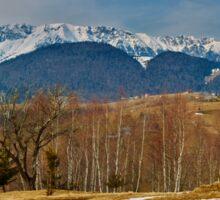Mountain range and trees Sticker