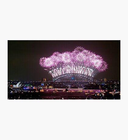 NYE FIREWORKS SYDNEY AUSTRALIA Photographic Print