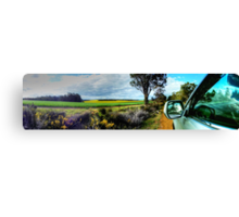 A Drive In The Australian Countryside.  Canvas Print