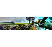 A Drive In The Australian Countryside.  Photographic Print