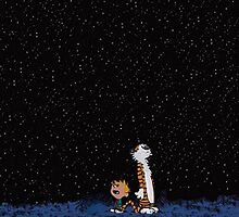 Calvin and Hobbes stars by halamadrid